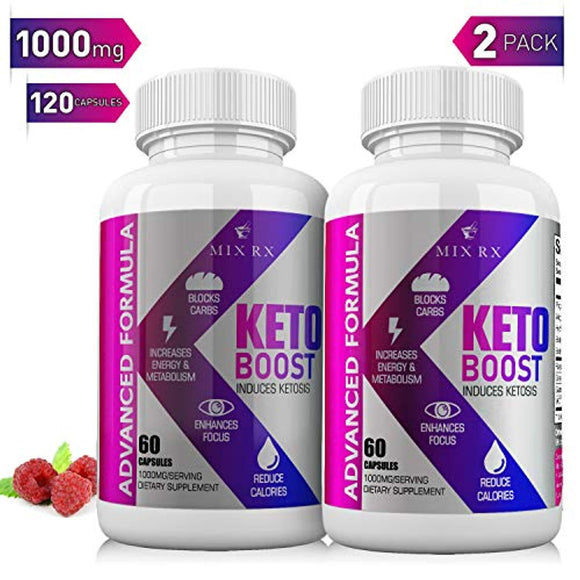 (2 Pack) Keto Diet Pills with Carb Blocker Ultra Supplement - Keto Burn w Exogenous Ketones - Fast Ketosis for Women Men