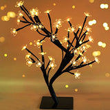"Bright Zeal 18"" Battery Operated LED Cherry Blossom Tree Lights (6hr Timer) - Bonsai Lighted Tree -"