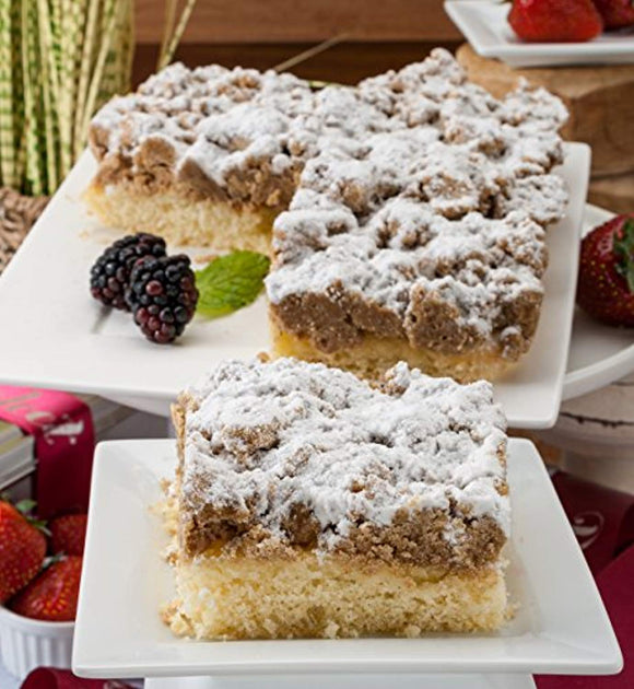 Dulcet Original Old Fashioned Crumb Cake Gourmet Gift Basket, incudes 2 boxes of 8 X 8 Crumb Cakes, ideal for birthday, get well, Sympathy