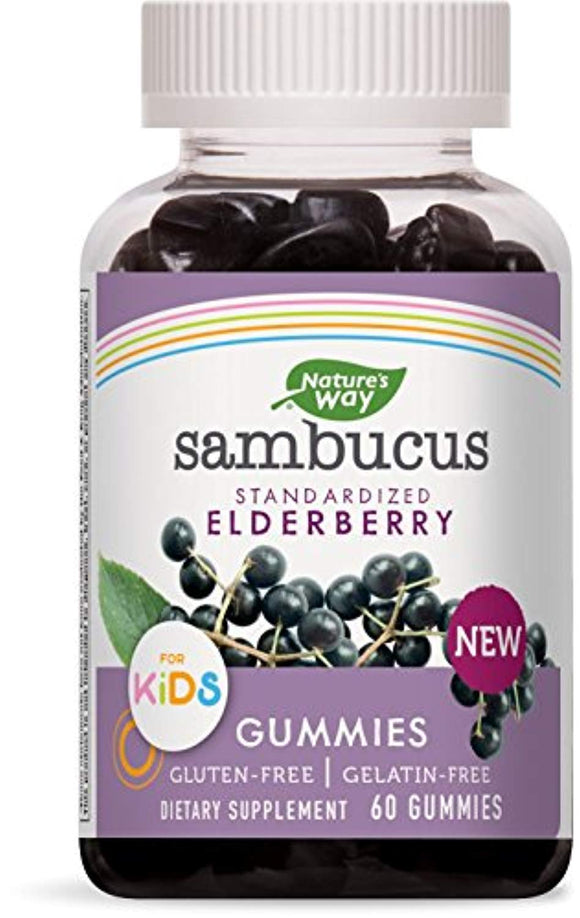 Nature's Way Sambucus Elderberry Kid's Gummies Herbal Supplements