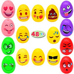 48 PCs Emoji Easter Eggs for Kids Basket Stuffers, Easter Decorations, Easter Egg Hunt Game