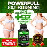 (5X Powerful Dose) Keto Diet Pills + Apple Cider Vinegar with Mother - Best Weight Loss Keto BHB Supplement for Women and Men