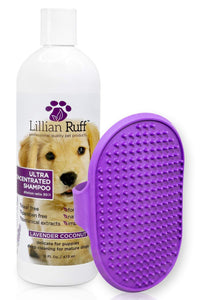 Lillian Ruff Professional Dog Shampoo – Concentrated Dog Shampoo with Aloe - Safe for Cats – Tear Free Lavender Coconut Scent – Soothe & Cleanse