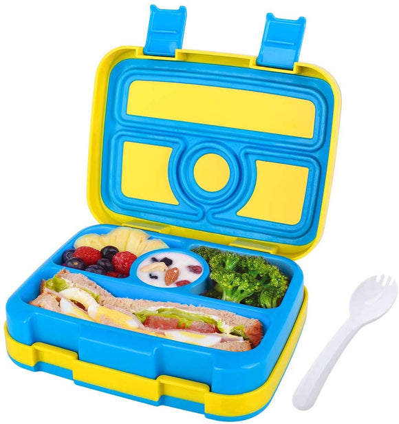 Kids Bento Lunch Box, Nomeca Durable Leak Proof 4-Compartment Food Container