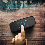 Touch Wireless Bluetooth V4.0 Portable Speaker with HD Sound and Bass, 12H Playtime, Built-in Mic, Portable Wireless Speaker