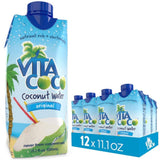 Vita Coco Organic Coconut Water, Pure - Naturally Hydrating Electrolyte Drink - Smart Alternative to Coffee, Soda, and Sports Drinks - Gluten Free - 11.1 Ounce (Pack of 12)