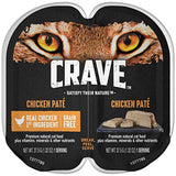 Crave Grain Free High Protein Wet Cat Food Trays (Case Of 24 Twin Packs, 48 Servings)