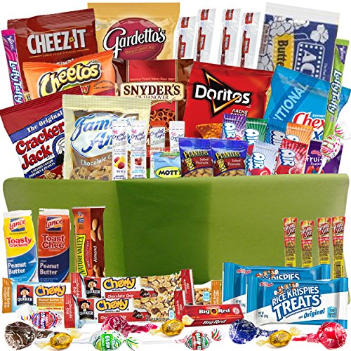 Gift Baskets with Sweet and Salty Snacks, 54-Counts
