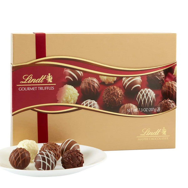 Lindt LINDOR Assorted Chocolate Gourmet Truffles, Gift Box, Kosher, 7.3 Ounce - Free Shipping