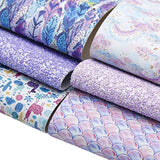 David accessories Printed Faux Leather Fabric Sheets
