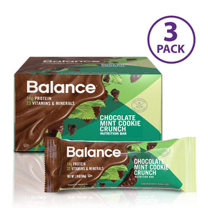 Balance Bar, Healthy Protein Snacks,  1.76 oz, Pack of Three 6-Count Boxes