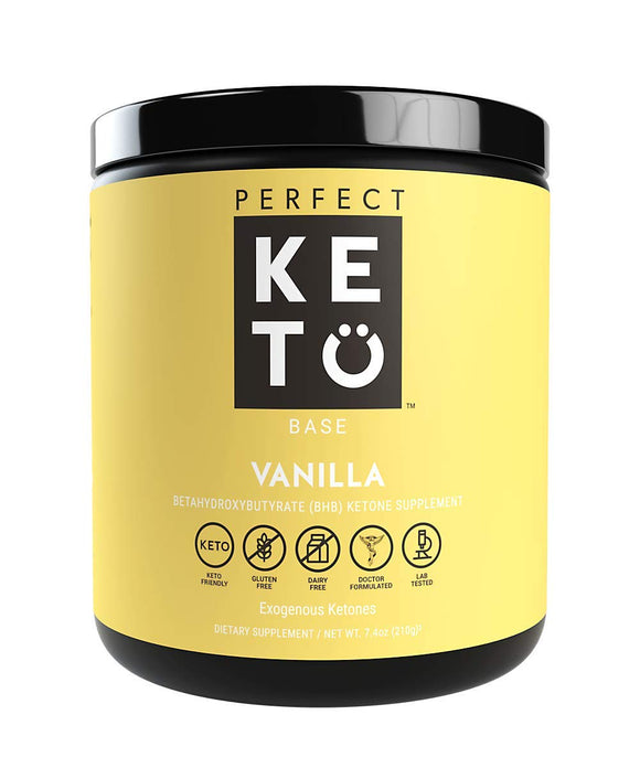Perfect Keto Exogenous Ketones: Base BHB Salts Supplement. Ketones for Ketogenic Diet Best to Support Weight Management & Energy