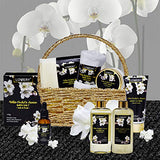 Bath and Body Gift Basket for Women and Men – Orchid and Jasmine Home Spa Set With Body Scrubs, Lotions, Oils, Gels and More - 9 Piece Set
