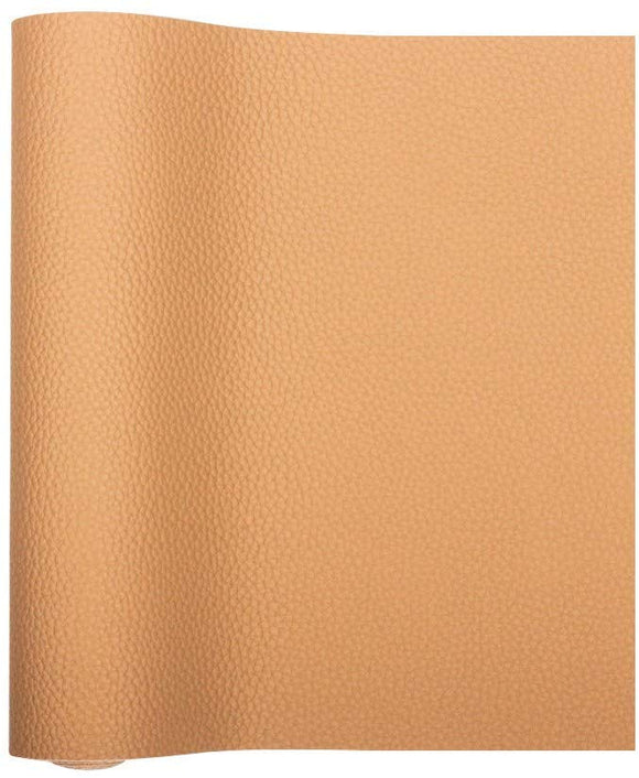 Meneng Solid PU Synthetic Leather Faux Litchi Pattern Leather Sheet