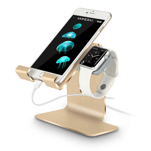Charging Stand Compatible with Apple Watch and iPhone/iPad (Rose Gold-Must Have Apple Accessories)