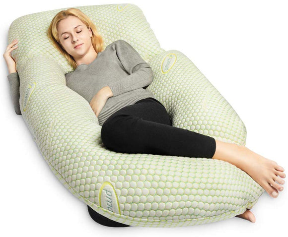 QUEEN ROSE Pregnancy Pillow Bamboo with Detachable Design,U Shaped Full Body Pillow Support