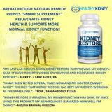 Natural Kidney Cleanse to Support Kidney Function and Detox, Daily Health Supplement Pills for Poor Kidneys & Kidney Flushing, 60 Capsules