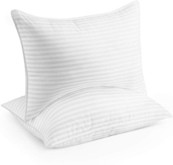 Beckham Hotel Collection Gel Pillow (2-Pack) - Luxury Plush Gel Pillow - Dust Mite Resistant & Hypoallergen