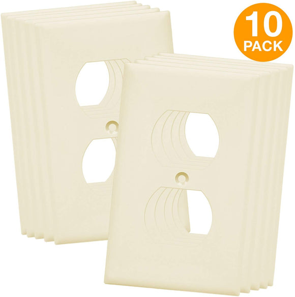 Duplex Wall Plates Kit by Enerlites 8821-W Home Electrical Outlet Cover, 1-Gang Standard Size
