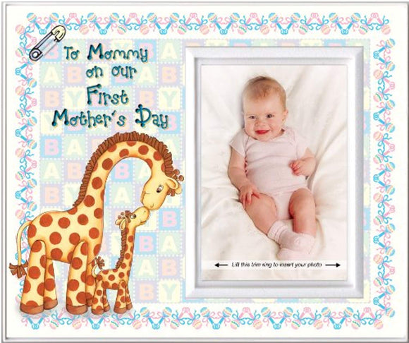 "First Mother's Day Picture Frame Gift | Holds 3.5"" x 5"" Photo 