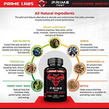 Prime Labs Men's Testosterone Booster (60 Caplets) - Natural Stamina, Endurance and Strength Booster - Fortifies Metabolism
