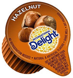 2 Pack International Delight, Hazelnut, Single-Serve Coffee Creamers, 192 Count Each, Non-Dairy Flavored Coffee Creamer