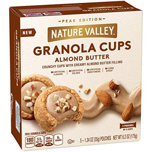 Peak Edition Nature Valley Granola Cups, Almond Butter, 6.2 oz. (Pack of 4)