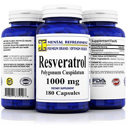 Premium 100% Pure Resveratrol - Heart Health, Weight Loss, Anti-Aging
