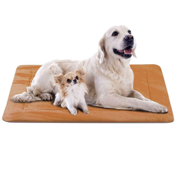 JoicyCo Dog Bed Crate Pad 35/42/47 in Washable Pet Beds Soft Dog Mattress- Anti-Slip Kennel Pads Luxury Color