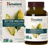 Himalaya Organic Bitter Melon/Karela, 60 Caplets for Balanced Blood Sugar Level, 660 mg, 1 Month Supply (1PACK)