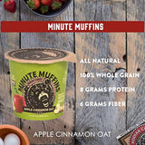 Kodiak Cakes Minute Muffins High Protein Snack, Apple Cinnamon Oat, 2.29 Ounce (Pack of 12)