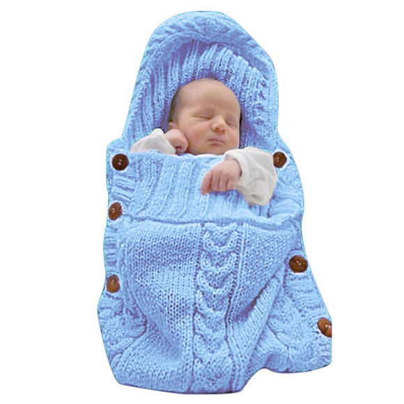 XMWEALTHY Newborn Baby Wrap Swaddle Blanket Knit Sleeping Bag Receiving Blankets Stroller Wrap for Baby