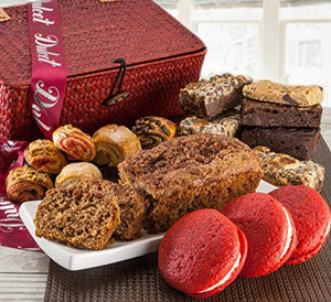 Dulcets Red Basket Cinnamon Apple Best Selling Gift Baskets