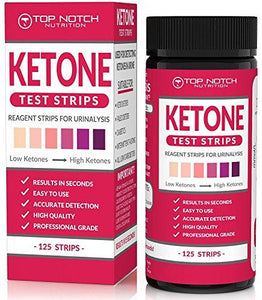 Ketone Test Strips for Testing Ketosis Levels in 15 Seconds Using Urinalysis