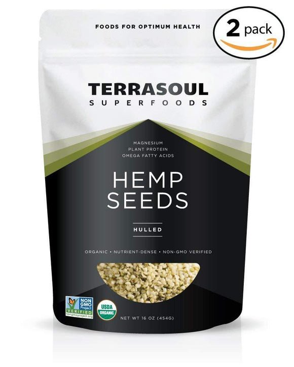 Terrasoul Superfoods Organic Hemp Seeds (Hulled), 2 Pounds
