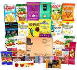 ALL NATURAL Healthy Snacks Care Package (30 Ct): Bars, Cookies, Vegan Puffs, Crispy Fruit, Trail Mix, Gift Box, Office Assortment Variety Pack,