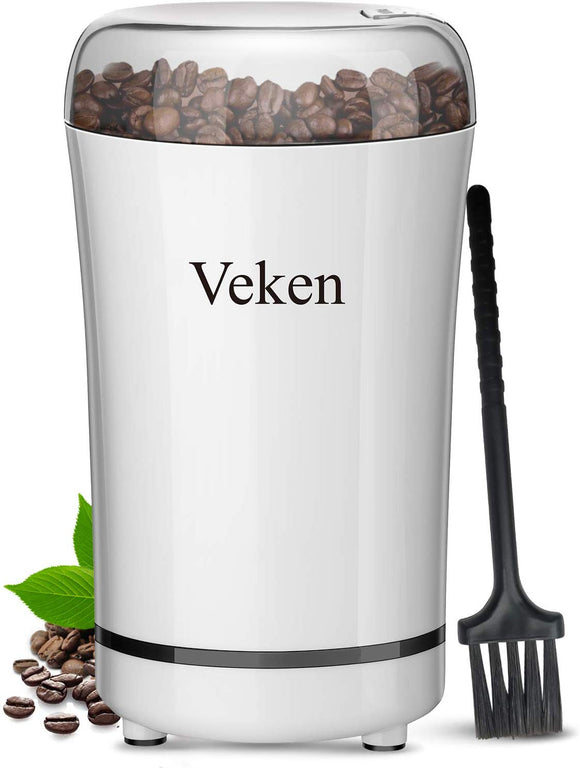 Veken Coffee Grinder Electric Spice & Nut Grinder with Stainless Steel Blad