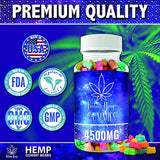 Fantasy Organic Hemp Gummies 4500MG -50MG Per Gummy Bear with Full Spectrum Hemp Extract | Natural Candy Supplements