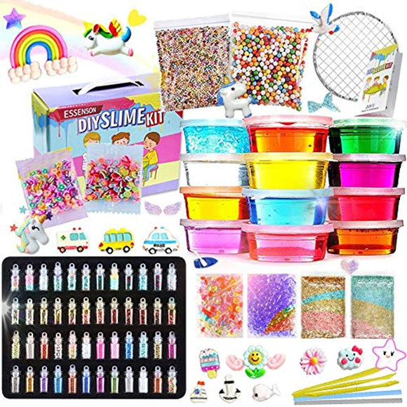 Slime Kit - Slime Supplies Slime Making Kit for Girls Boys, Kids Art Craft, Crystal Clear Slime