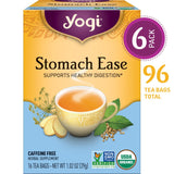 Yogi Tea - Stomach Ease - Supports Healthy Digestion - 6 Pack, 96 Tea Bags Total