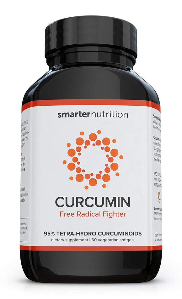 Smarter Curcumin - Potency and Absorption in a SoftGel. 95% Tetra-Hydro Curcuminoids. The Most Active Form of Curcuminoid Found in The Turmeric Root (1 Month Supply)
