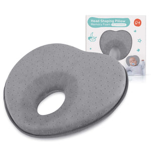 Baby Pillow for Newborn Infant(0-12months),Flat Head Syndrome Prevention 3D Memory Foam
