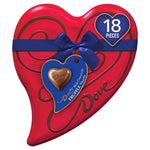 DOVE Valentine's Milk Chocolate Truffle Candy Heart Gift Box 6.5-Ounce Tin, 18 Pieces
