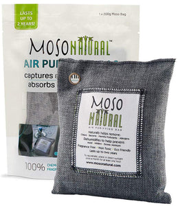MOSO NATURAL Air Purifying Bag. Odor Eliminator, Odor Absorber for Cars and Closets.