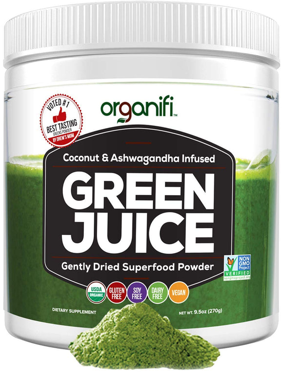 Organifi: Green Juice - Organic Superfood Supplement Powder - 30 Day Supply - USDA Certified Organic Vegan Greens- Hydrates and Revitalizes