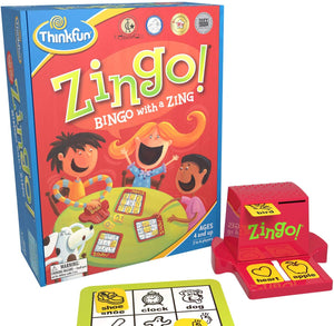 ThinkFun Zingo Bingo Award Winning Game for Pre-Readers and Early Readers Age 4 and Up