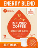 VitaCup Energy Blend Coffee Pods 16ct Keto|Paleo|Whole30 Friendly, B12, B9, B6, B5, B1, D3,