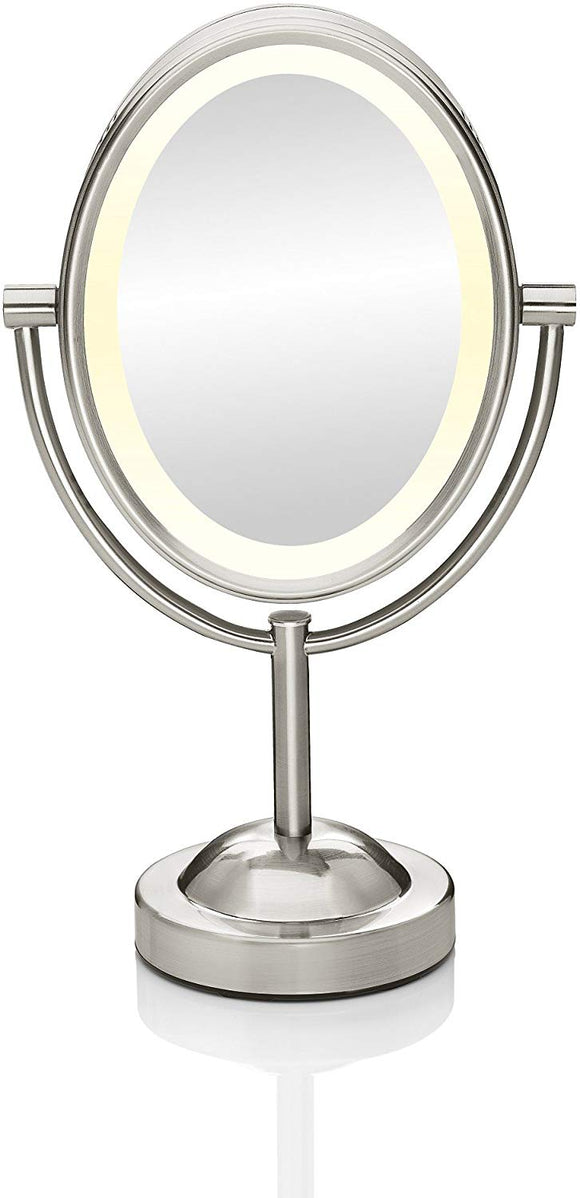 Conair Double-Sided Lighted Makeup Mirror - Lighted Vanity Mirror; 1x/7x magnification