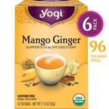Yogi Tea - Mango Ginger - Supports Healthy Digestion - 6 Pack, 96 Tea Bags Total