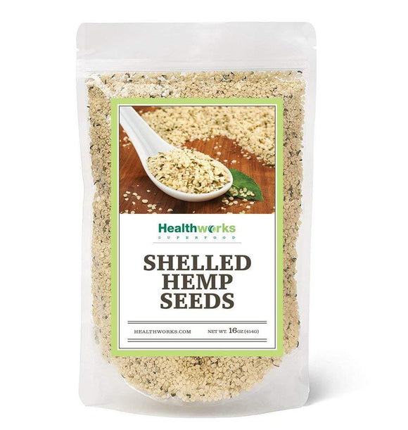 Healthworks Hemp Seeds, Shelled Pesticide-Free, 1lb